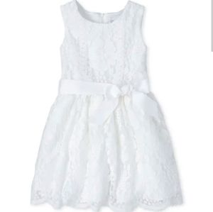 Girls Lace Fit And Flare Dress